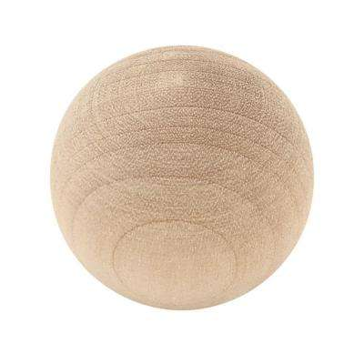 Classic 1-1/4 in. (32mm) Birch Wood Ball Cabinet Knob