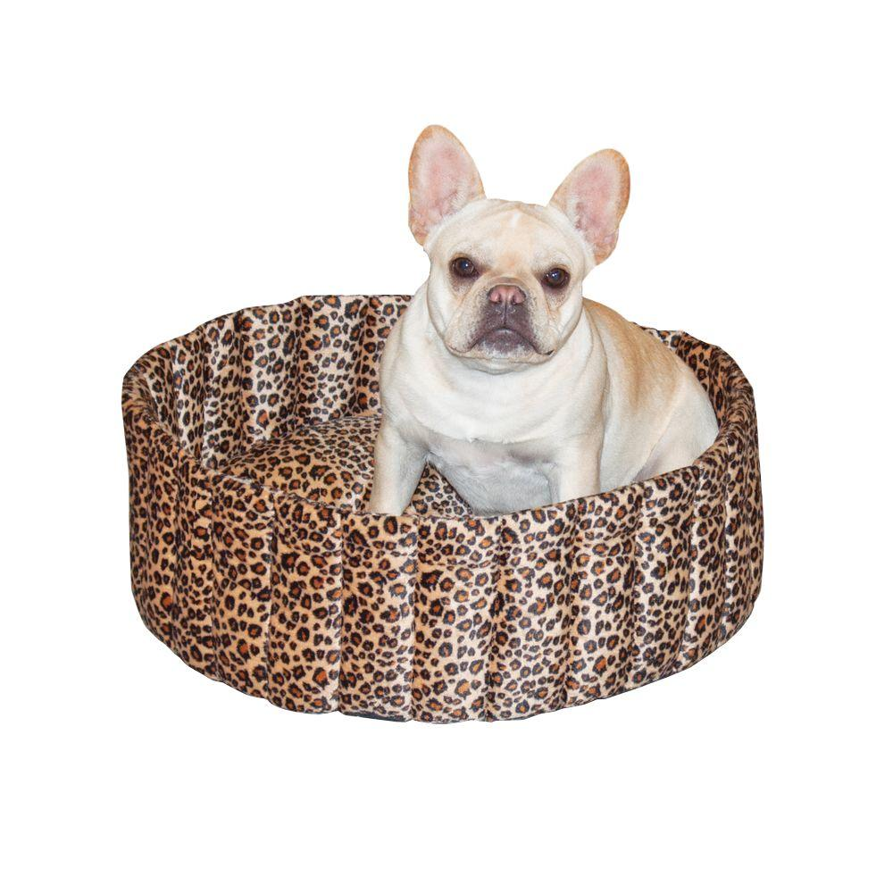 Lazy Cup Large Leopard Cat Bed