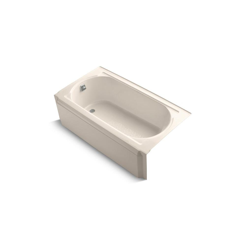 KOHLER Memoirs 5 ft. Left Drain Soaking Tub in Innocent Blush-DISCONTINUED