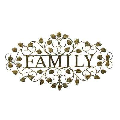 Metal Family Wall Decor