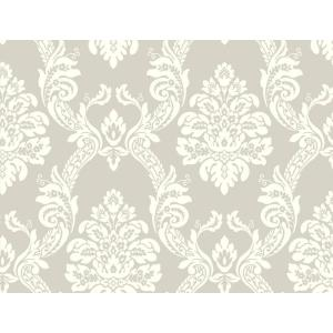 York Wallcoverings Pattern Play Ogee Damask Wallpaper by York Wallcoverings