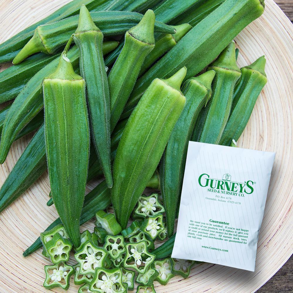 Okra Gurney's Gumbo Hybrid (50 Seed Packet)
