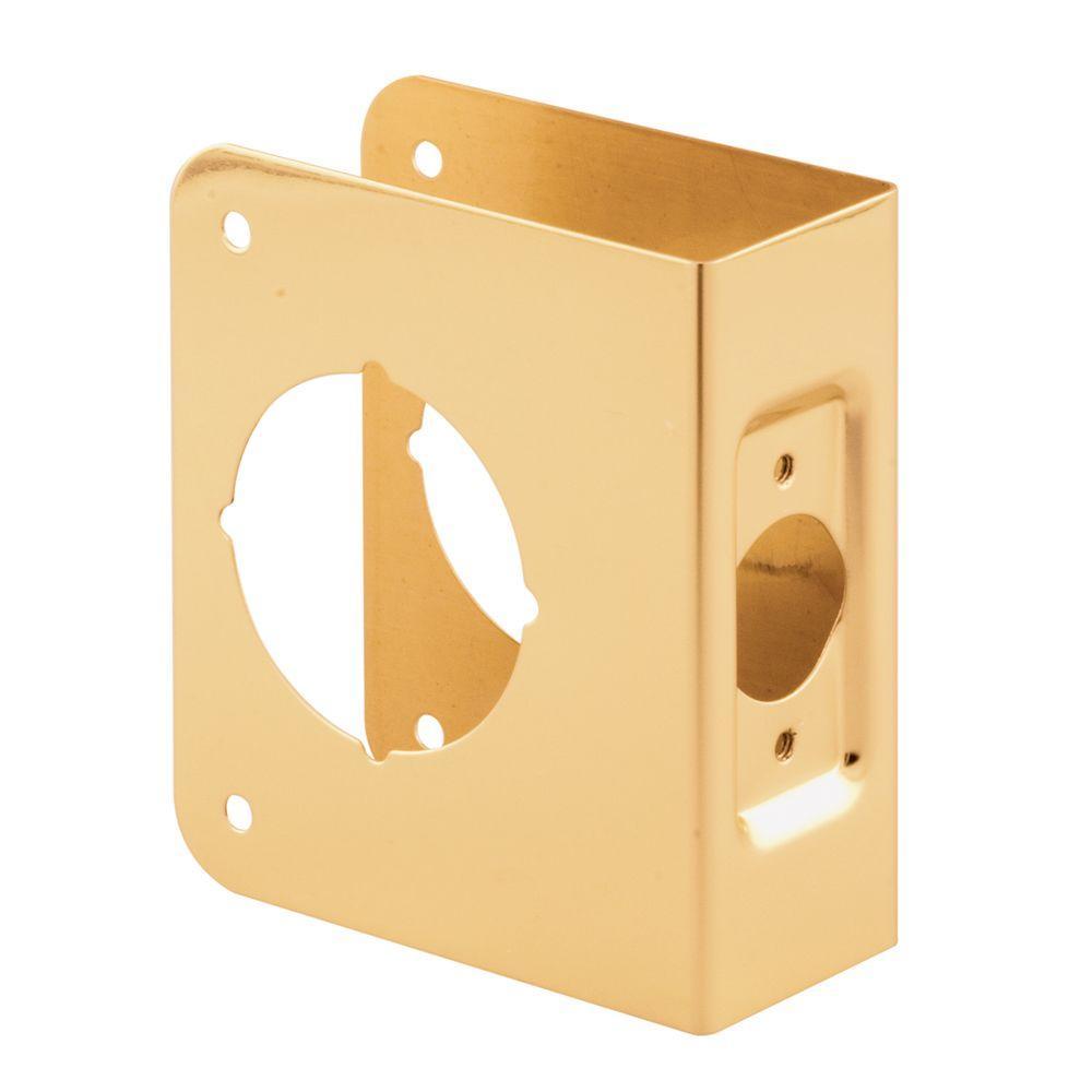 Door Reinforcer 1-3/4 in. Thick x 2-3/8 in. Backset 2-1/8 in. Brass Recessed