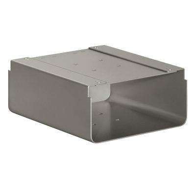 Newspaper Holder for Designer Roadside Mailbox, Nickel