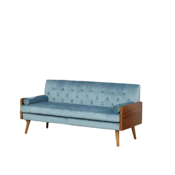 Christie Light Blue Classic Velvet Sofa S5669 S The Home Depot