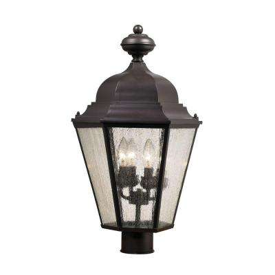 Cotswold 4-Light Oil Rubbed Bronze Outdoor Post Lamp