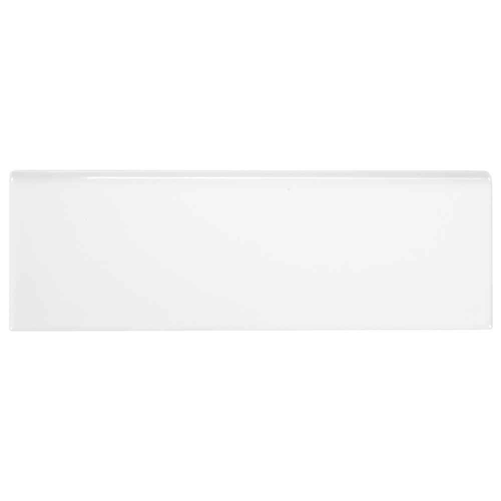 Daltile Finesse Bright White 2 in. x 6 in. Ceramic Bullnose Wall Tile