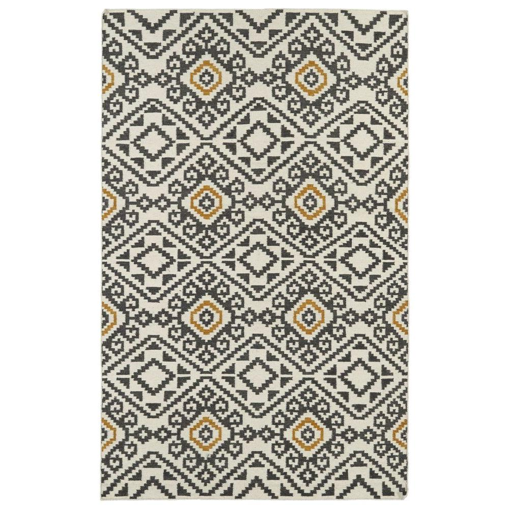 Kaleen Nomad Charcoal 5 ft. x 8 ft. Area Rug