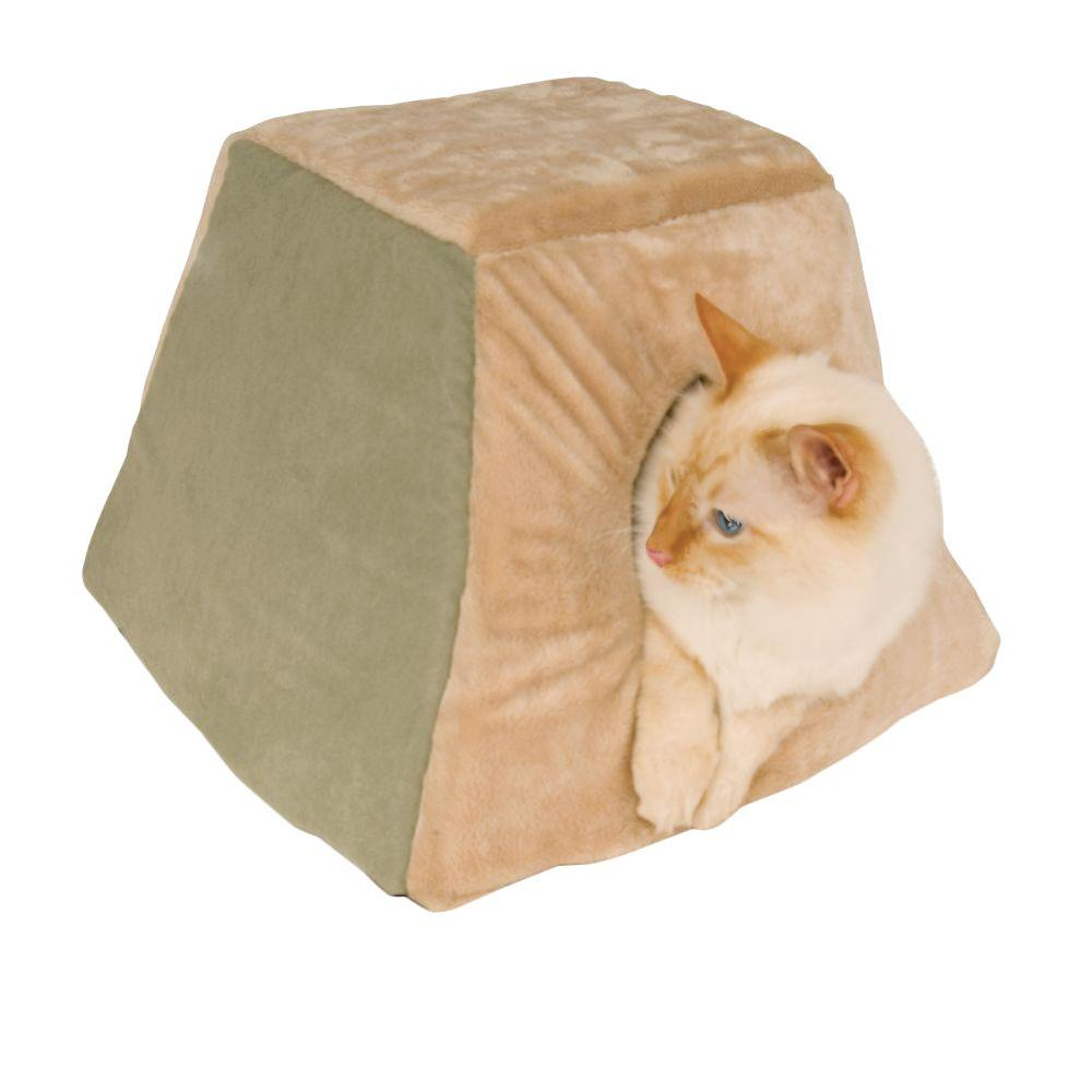 K&H Pet Products Thermo-Kitty Cabin Small Sage Heated Cat Shelter