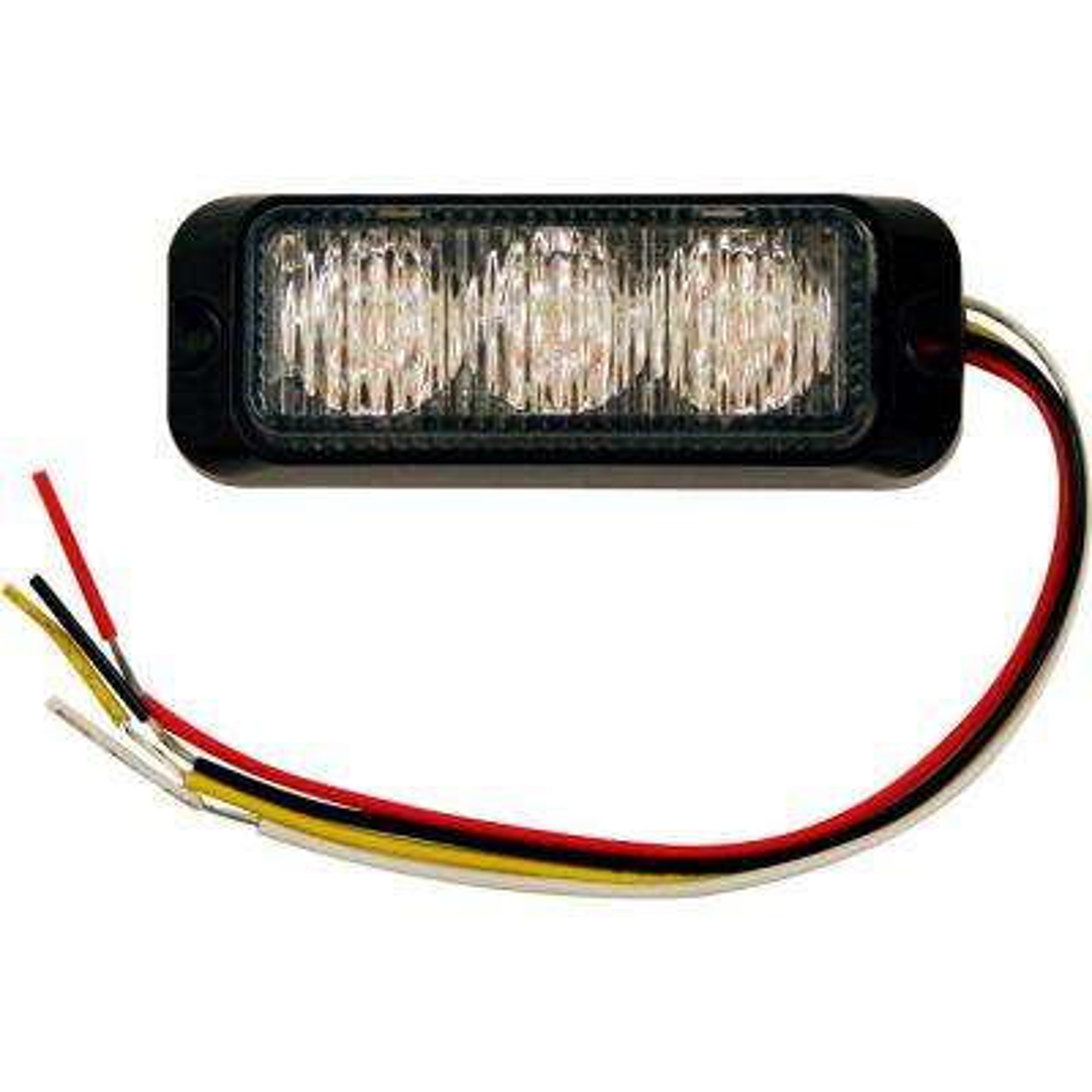 3.875 in. Amber LED Mini Strobe Light