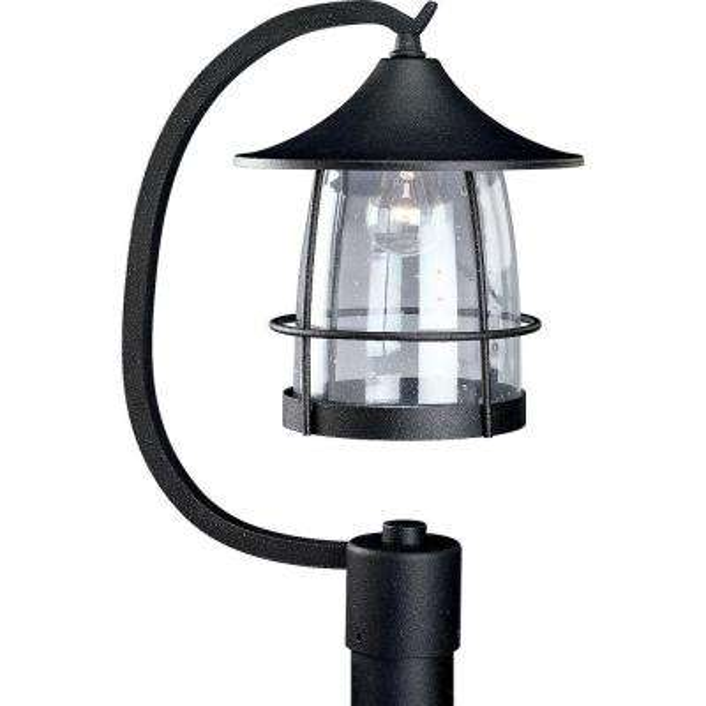 Prairie Collection Gilded Iron 1-Light Outdoor Post Lantern