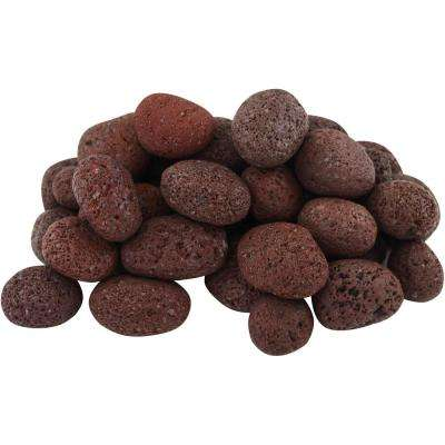 20 lbs. Red Lava Pebbles
