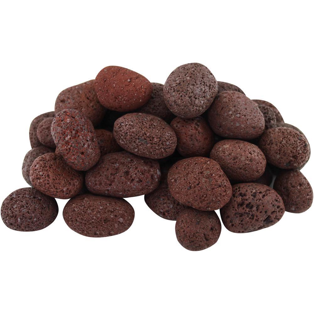 20 lbs. Red Lava Pebbles