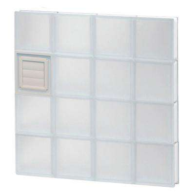 31 in. x 31 in. x 3.125 in. Frameless Frosted Glass Block Window with Dryer Vent