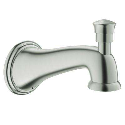 Parkfield Tub Spout with Diverter in Brushed Nickel