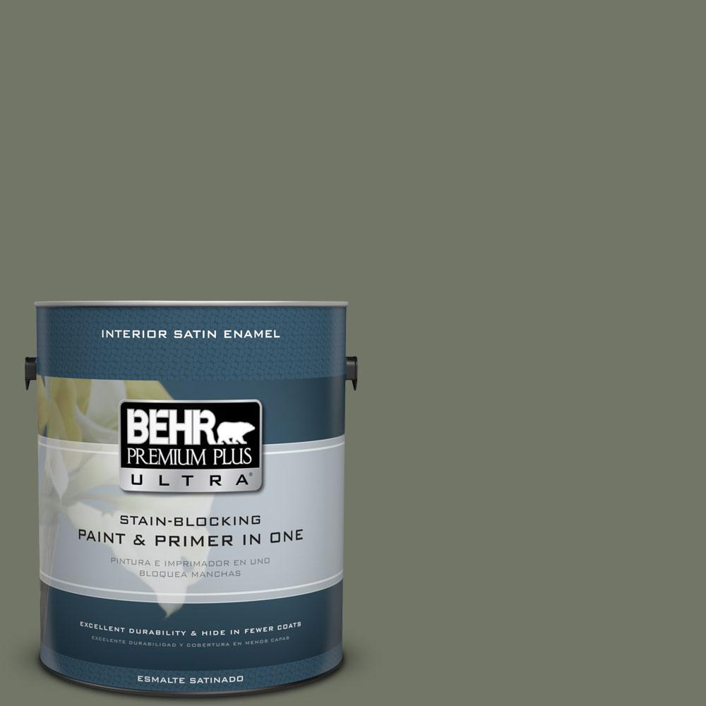 #PPU10 19 Conifer Green Satin Enamel Interior Paint And Primer