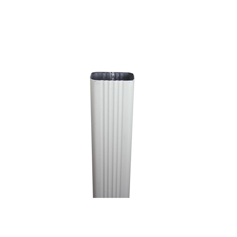 Spectra Metals 2 in. x 3 in. x 8 ft. Almond Aluminum Downpipe