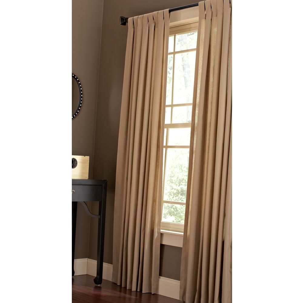Home Decorators Collection Cotton Duck Light Filtering Window Panel in  Natural - 42 in. W x 84 in. L