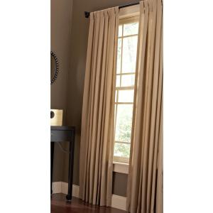 Cotton Duck Light Filtering Window Panel in  Natural - 42 in. W x 84 in. L