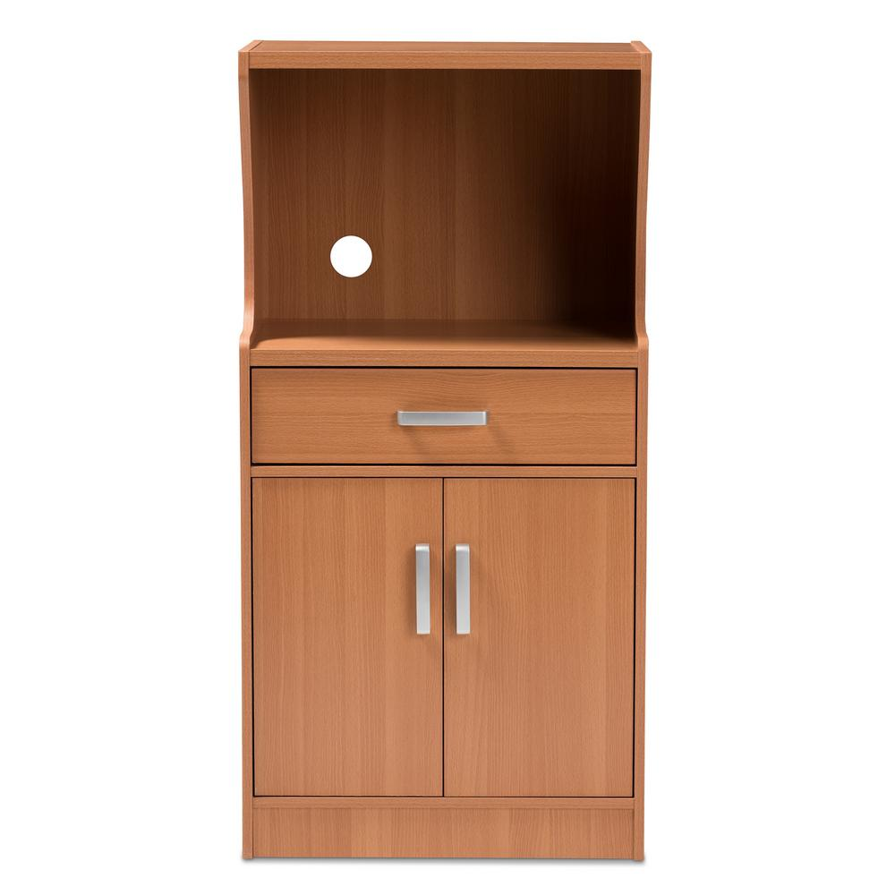 Baxton Studio Lowell Brown Kitchen Cabinet 146 8273 Hd The Home Depot
