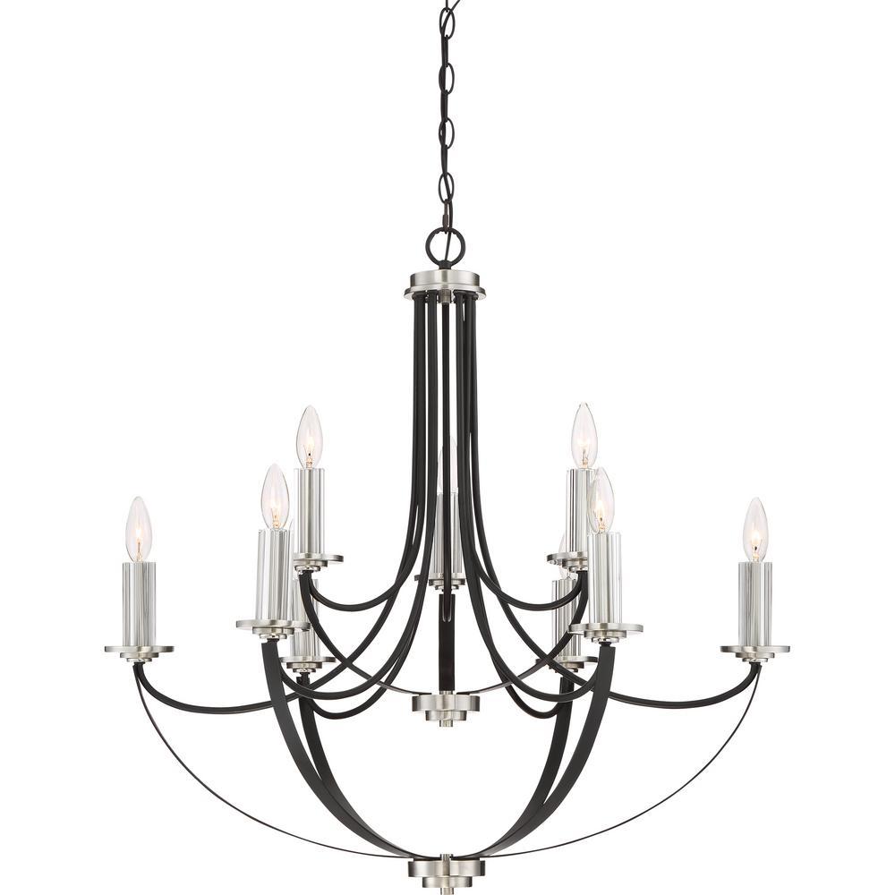 Alana 9-Light Mystic Black Candle-Style Chandelier