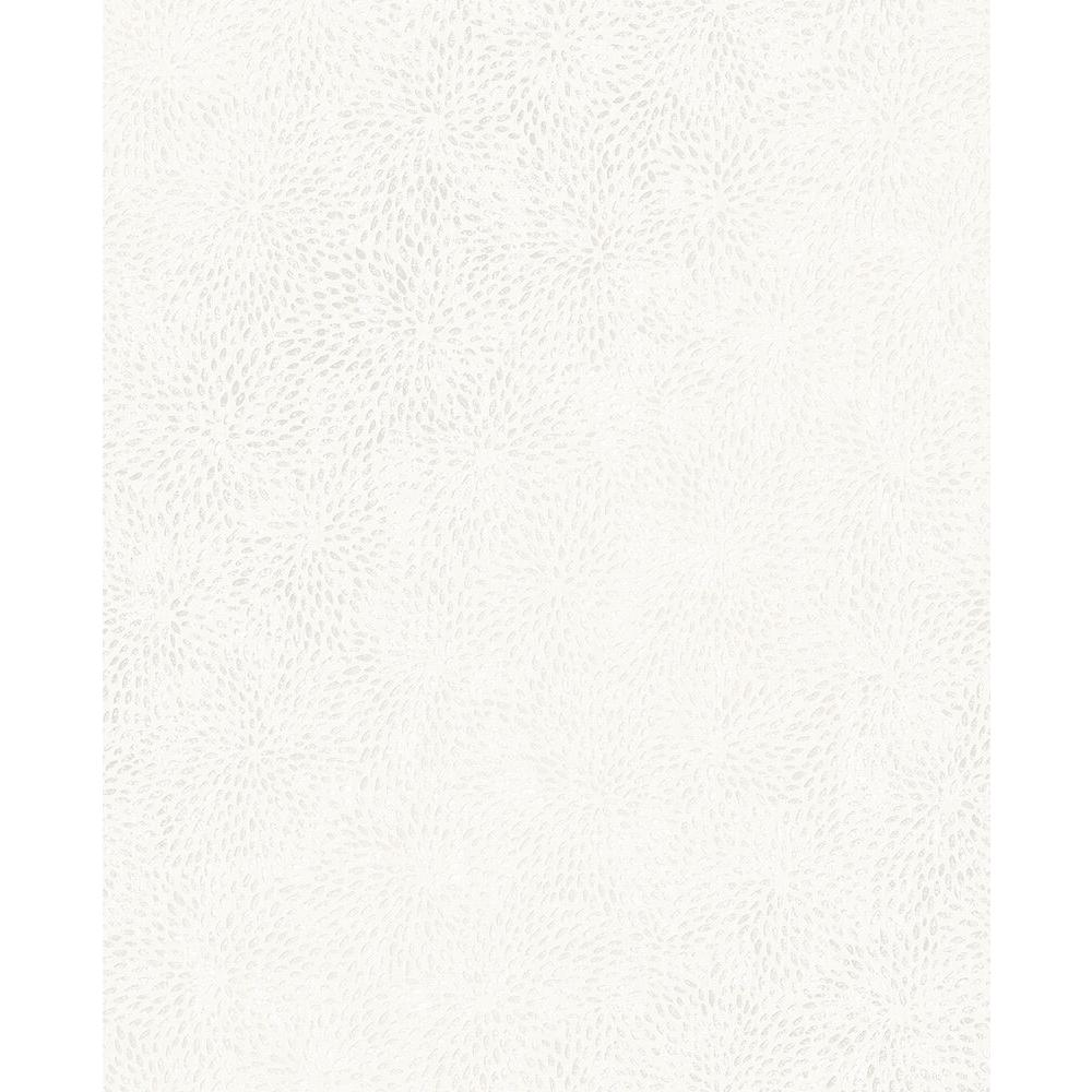 Mezzo White Floral Wallpaper