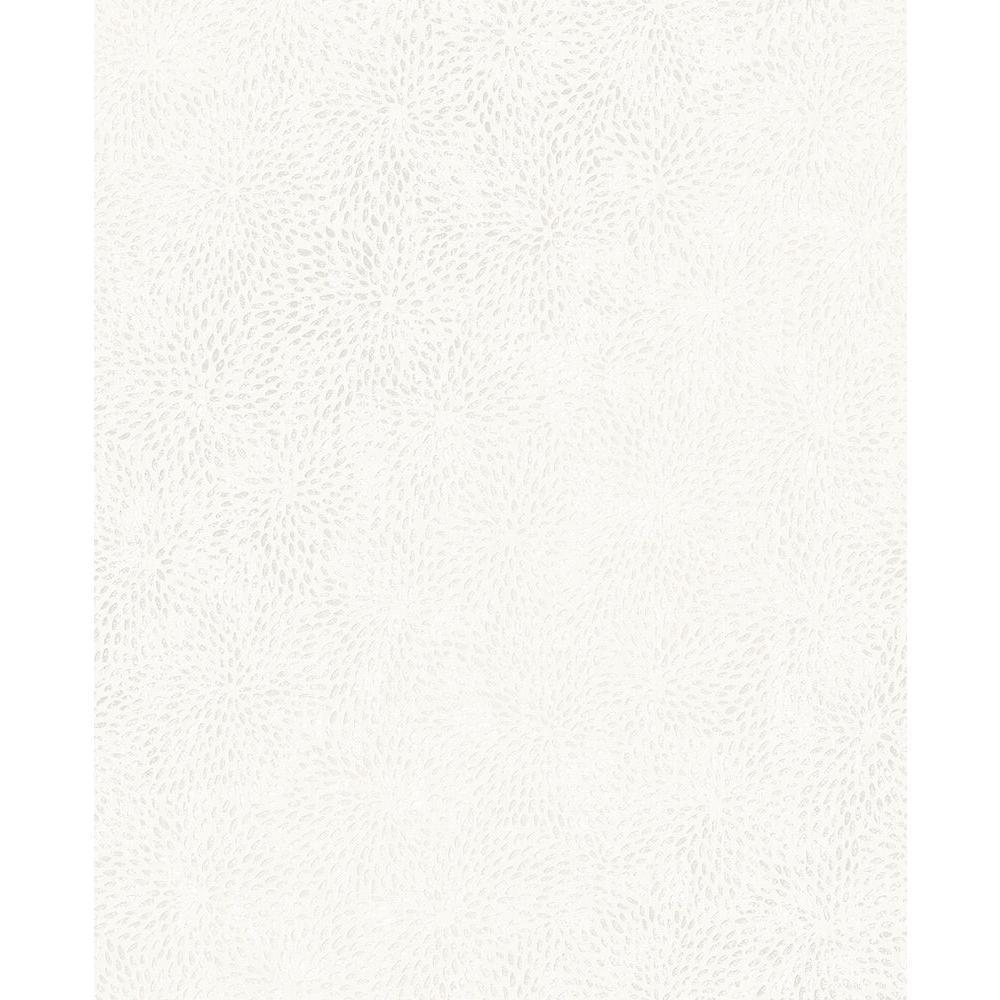 Mezzo White Floral Wallpaper Sample