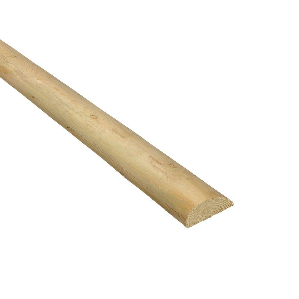 4 in. x 4 in. x 7 ft. Pressure-Treated Wood Round Fence Post ...