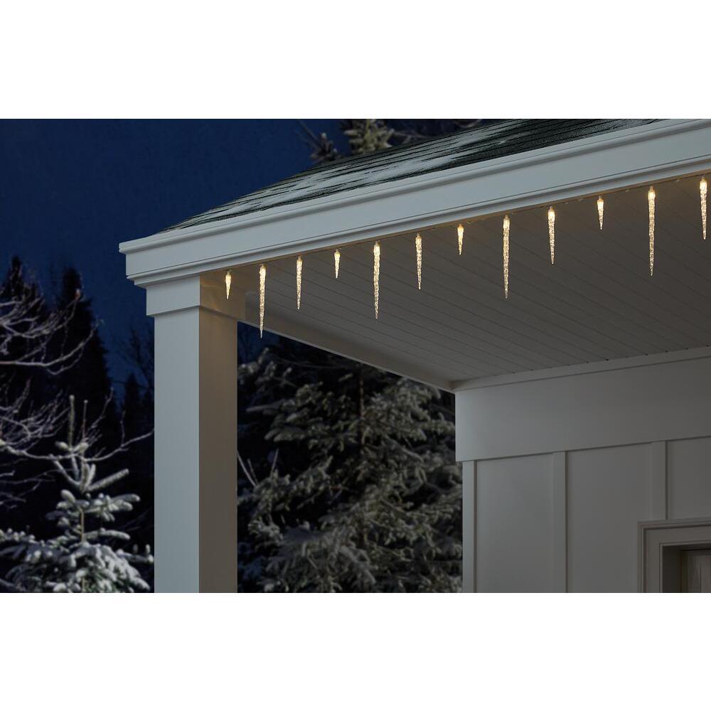 25-Light Warm White LED Molded Icicle Light Twinkle