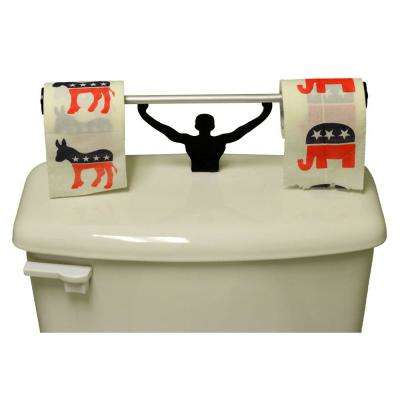 Republicans & Democrats Party Logo Toilet Paper in Multi-Color with Strong Man Holder Political Gift Set