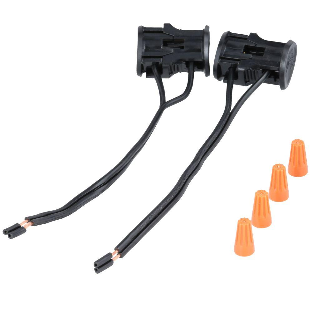 Hampton Bay Low-Voltage Black Replacement Cable Connector (2-Pack)