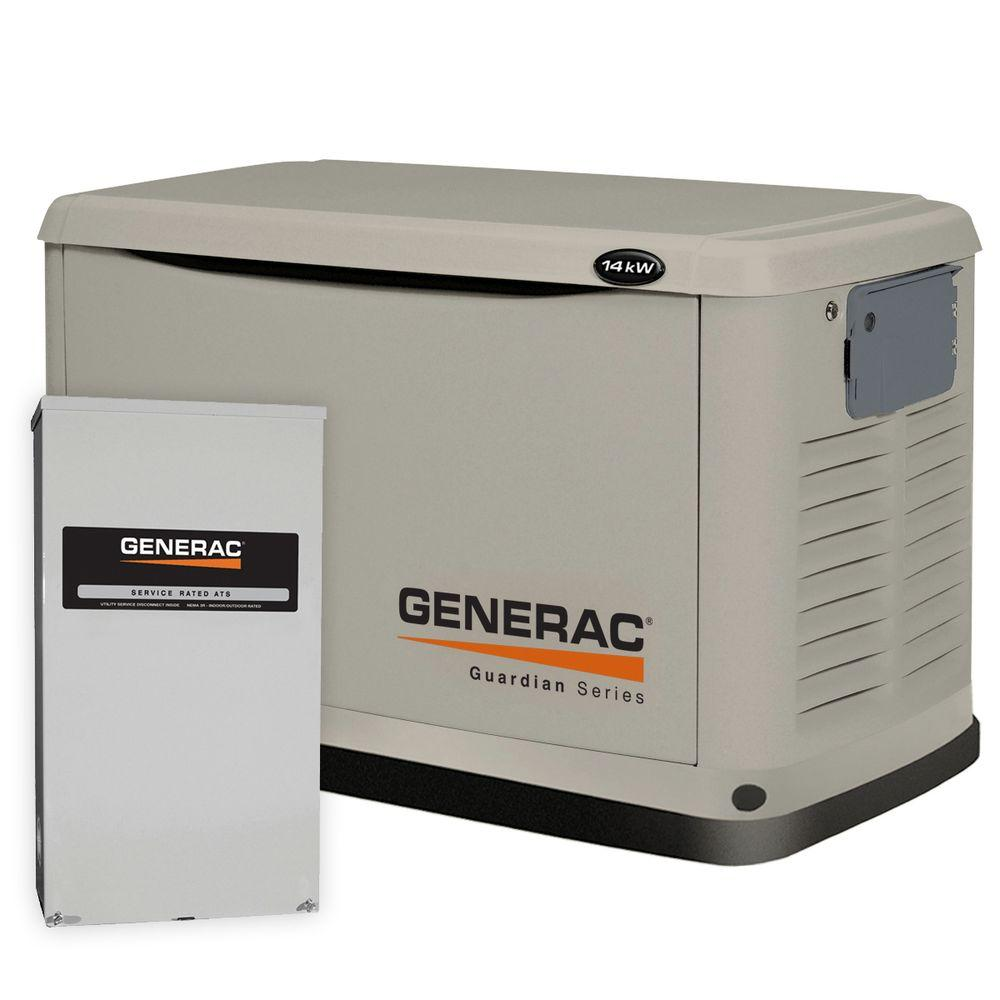 Generac 14,000-Watt Automatic Standby Generator with 200-Amp SE Rated Transfer Switch-DISCONTINUED