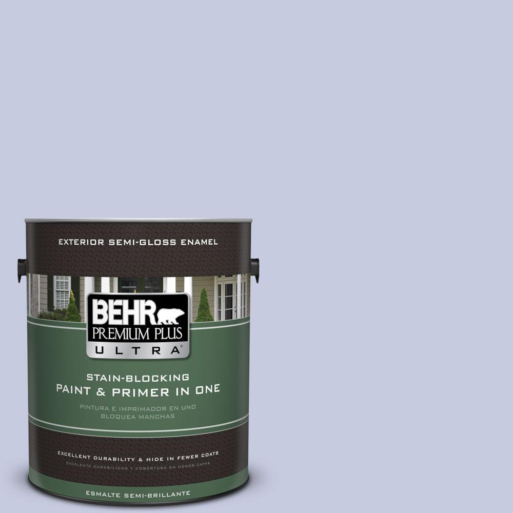 BEHR Premium Plus Ultra 1-gal. #BIC-08 Sweet Lavender Semi-Gloss Enamel Exterior Paint