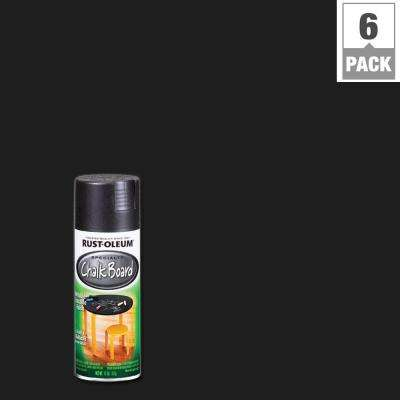 11 oz. Chalkboard Flat Black Spray Paint (6-Pack)