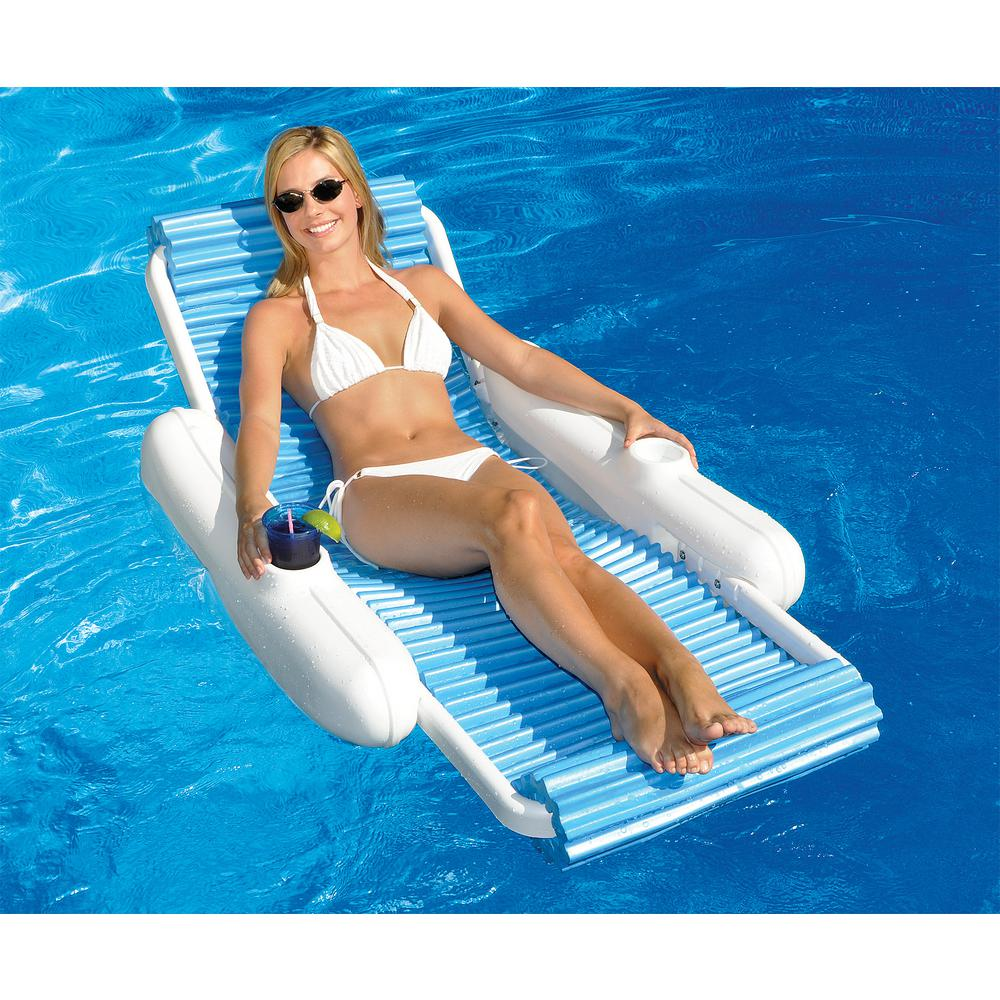 Attirant Swimline Eva Sunchaser Swimming Pool Floating Lounge Chair