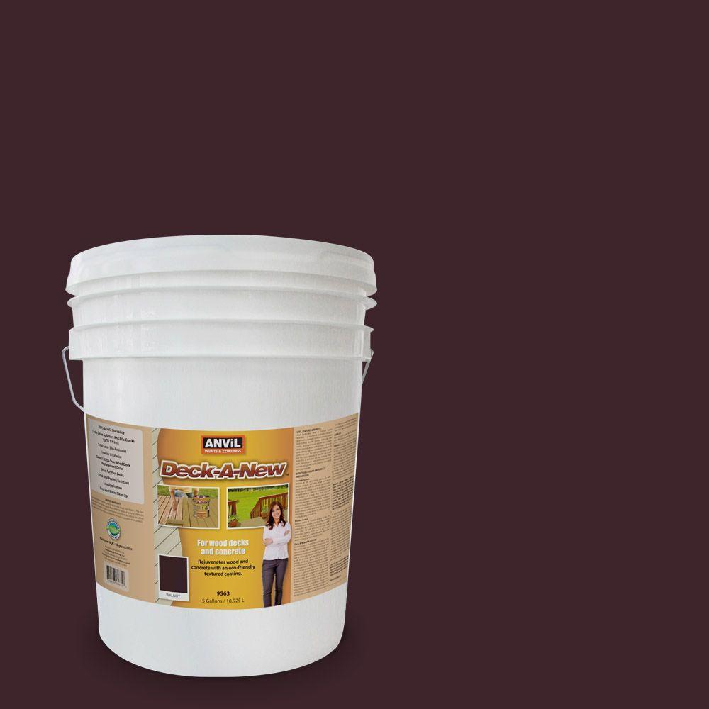Deck-A-New 5-gal. Walnut Rejuvenates Wood and Concrete Decks Premium Textured Resurfacer