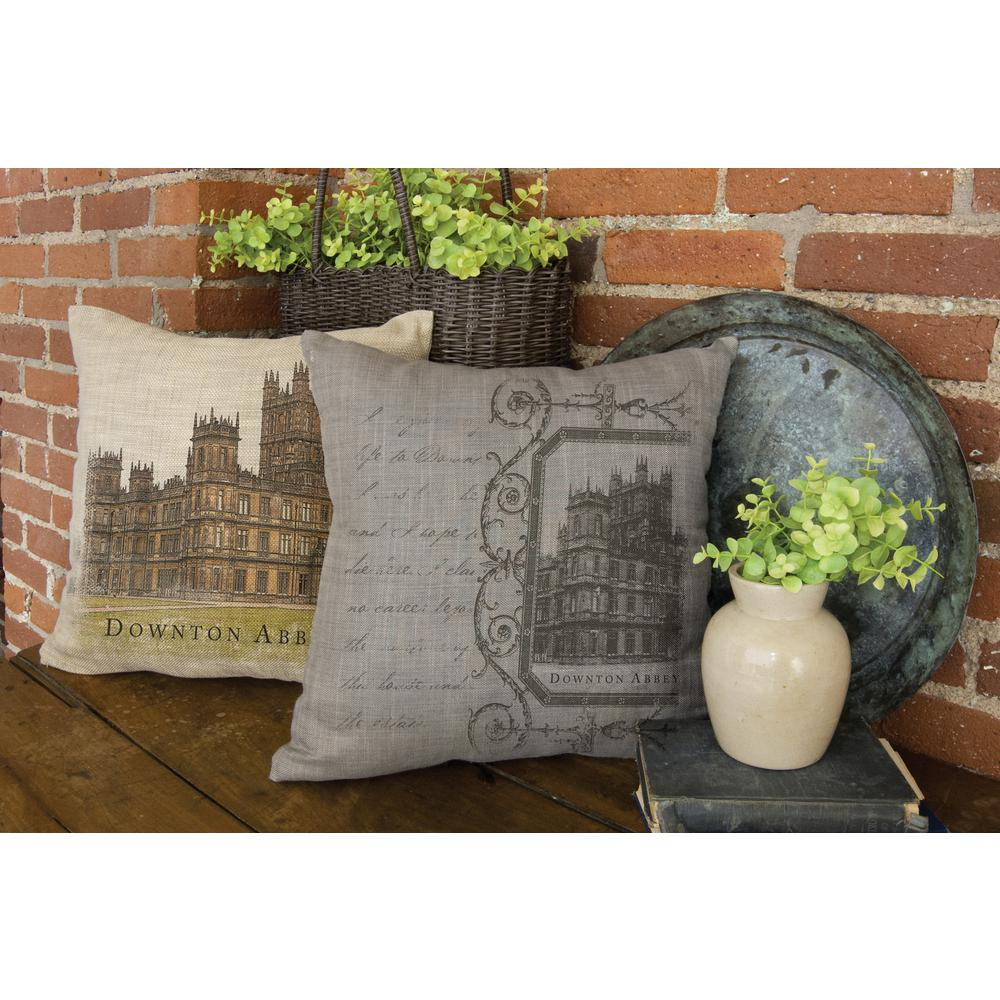 Castle Gray Castle Decorative Pillow