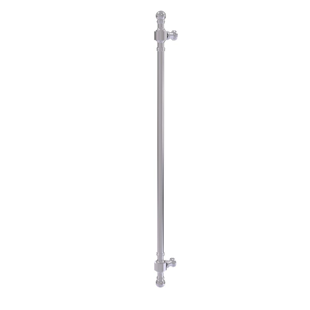 Retro Wave Collection 18 in. Refrigerator Pull in Polished Chrome
