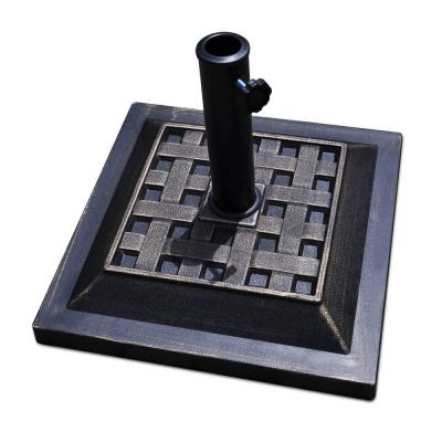 17.5 in. Square Heavy-Duty Umbrella Base Stand Market Patio Standing Outdoor Living in Bronze