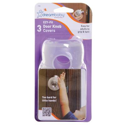 Door Knob Covers Plastic White Grip Twist Child Safety Accessory Included 4 Pack