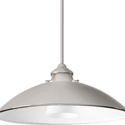 Carbon Collection 1-light Polished Nickel Pendant