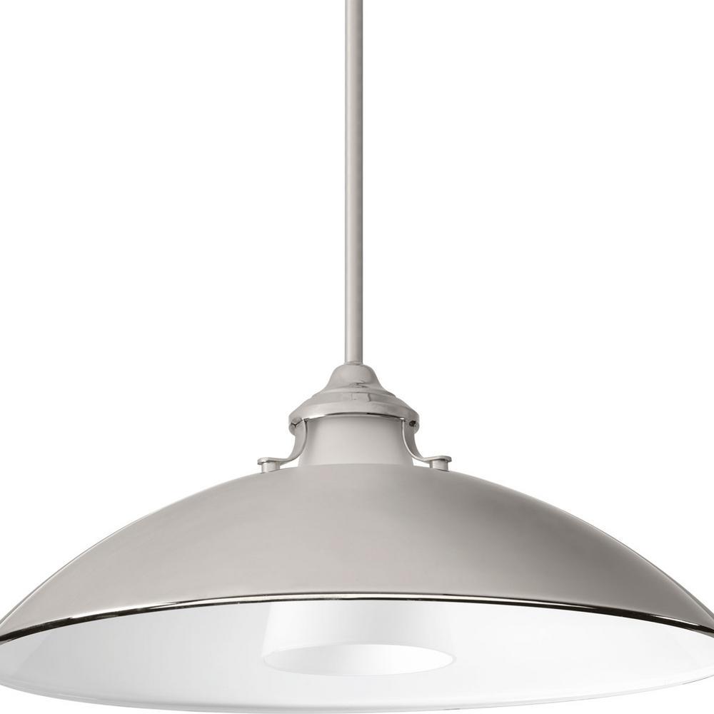 Progress Lighting Carbon Collection 1-light Polished Nickel Pendant