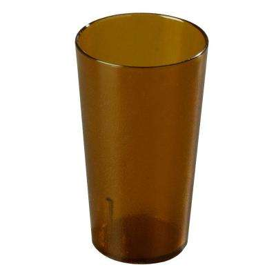 20 oz. SAN Plastic Stackable Tumbler in Amber (Case of 72)