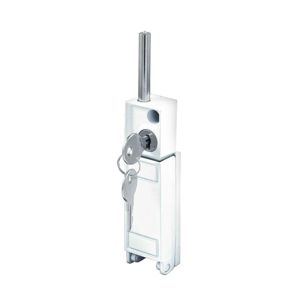 Prime line white patio door keyed bolt lock u 9919 the for 1 2 lock the door