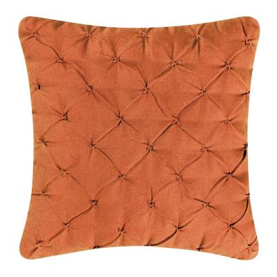 Diamond Tuck Orange Standard Pillow