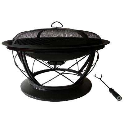 Palmetto 30 in. Fire Pit in Rubbed Bronze with Cooking Grid