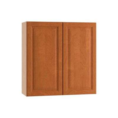 Ancona Ready to Assemble 24 x 30 x 12 in. Wall Cabinet with Chrome Pull-Down Shelves and 2 Soft Close Doors in Cumin