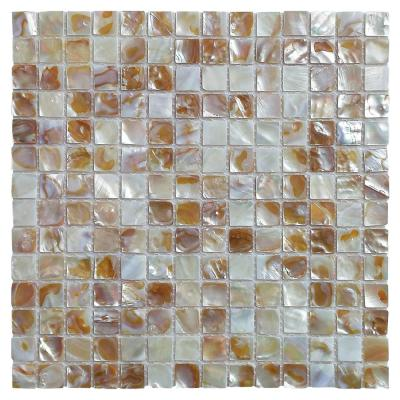 12 in. x 12 in. Mother of Pearl Backsplash Wall Tiles in Natural Color (10-Pack)
