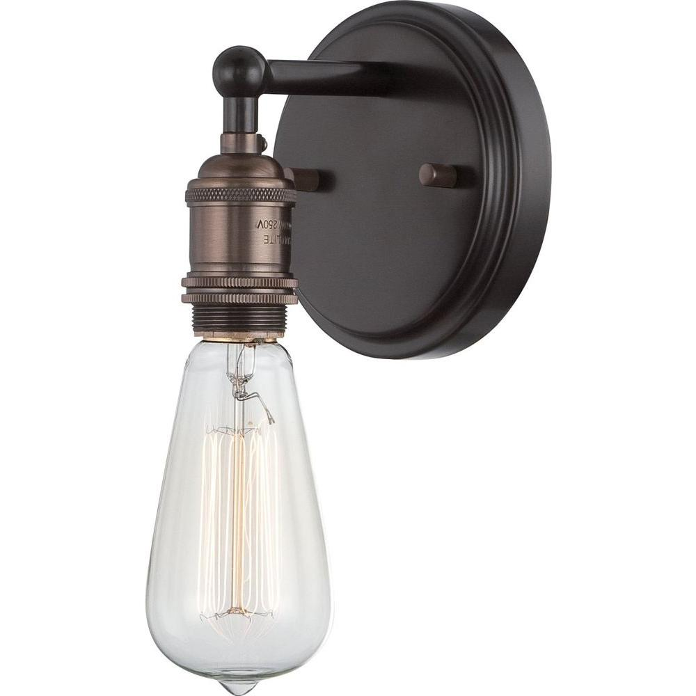 Superieur Filament Design Glomar 1 Light Rustic Bronze Incandescent Sconce