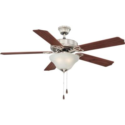 Marti 52 in. Indoor Brushed Nickel Ceiling Fan with Light Kit